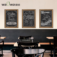 The story of modern wall frog coffee cafe restaurant decoration painting art painting Tryptich retro mural FS1