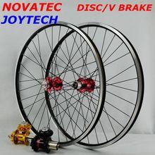 26 дюймов NOVATEC 4 подшипник HUB JOYTECH 041/042 32 отверстия диск V тормоз колесо горный велосипед набор колес 7/8/9/10/11 скорость кассета