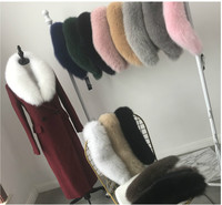 YIN FEI 100% Real Natural Fox Fur Coat Collar Scarve For Women's White Genuine Fur Muffler Multicolor