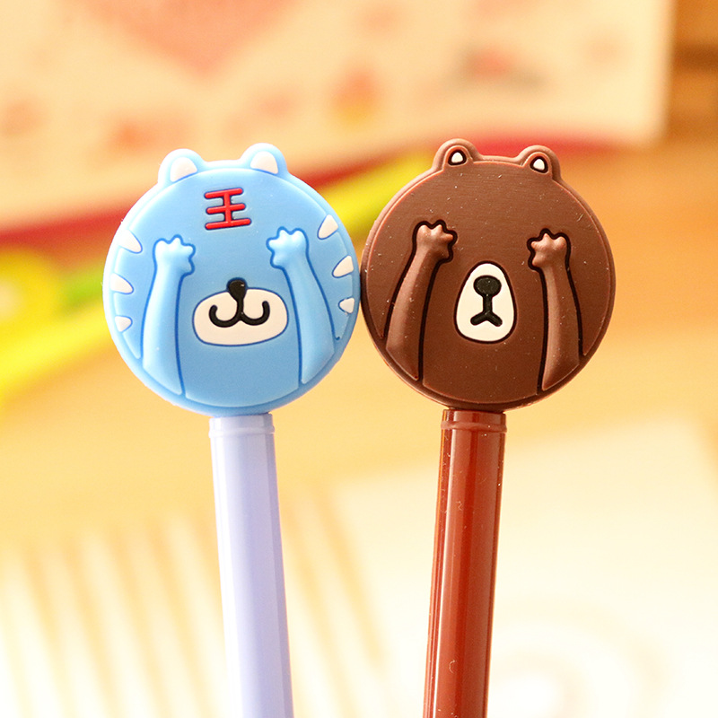 12PCS Kids happy birthday party supply pen gift for girl boy Animal design gift baby shower baptism gift party favors