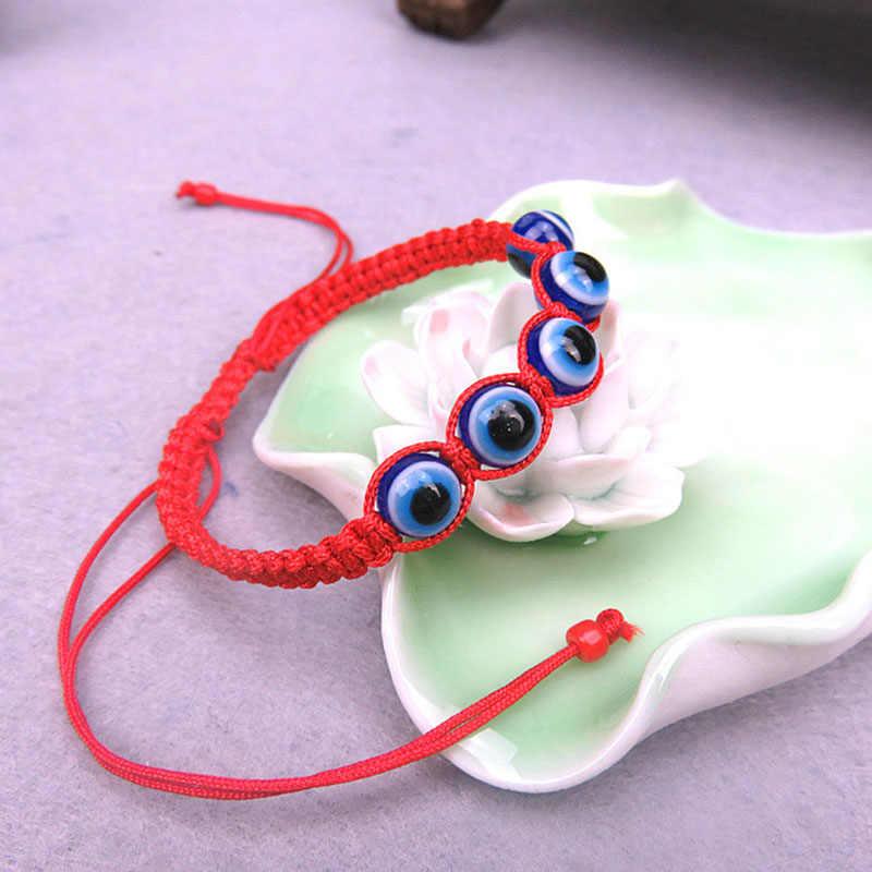 ISINYEE אופנה חדש טורקיה פטימה שטן עיניים רעות צמיד לגברים נשים מזל טוב צמיד קלוע חרוזים צמיד תכשיטים
