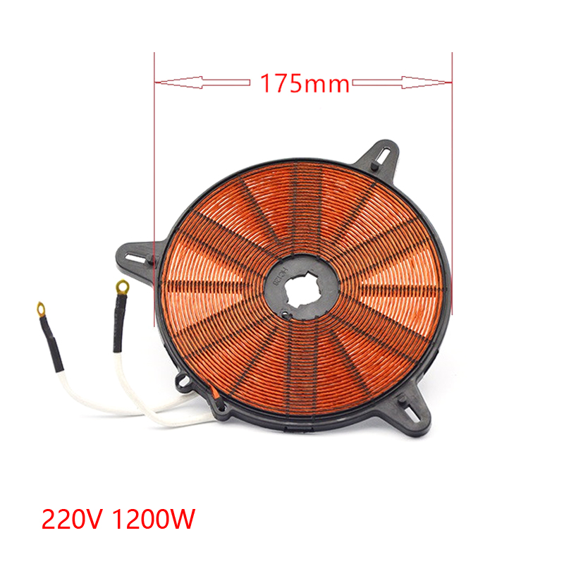 1500W  175mm  heat coil for induction cooker,electromagnetic oven heating coil electric 4 heads and 6 heads induction cooker embedded electromagnetic oven household commercial electromagnetic furnace cooking
