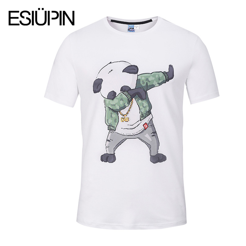 ESIUPIN 3d Printed T-shirt Men Cartoon Funny T Shirt Men Short Sleeve tshirt Brand Clothing Tee Shirt White 3D Men T Shirt