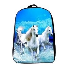 Hot 12 Inches Oxford Printing Animal horse Kindergarten Small Backpack Kids Baby School Bags Children Mini Schoolbag for Boys(China)