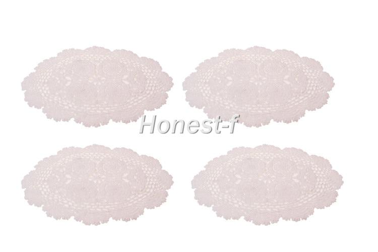 ba5516fa477b ᐅBlanco 11.8 x 17 Oval hecho a mano crochet algodón Encaje tabla P ...