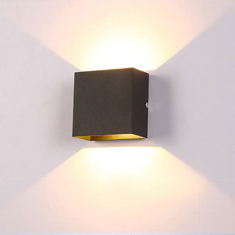 online retailer 7f939 ca0a8 US $10.5 |6W Square Dimmable LED wall lamp rail project lampada LED  Aluminium wall light bedside room bedroom wall lamps arts white body-in LED  Indoor ...