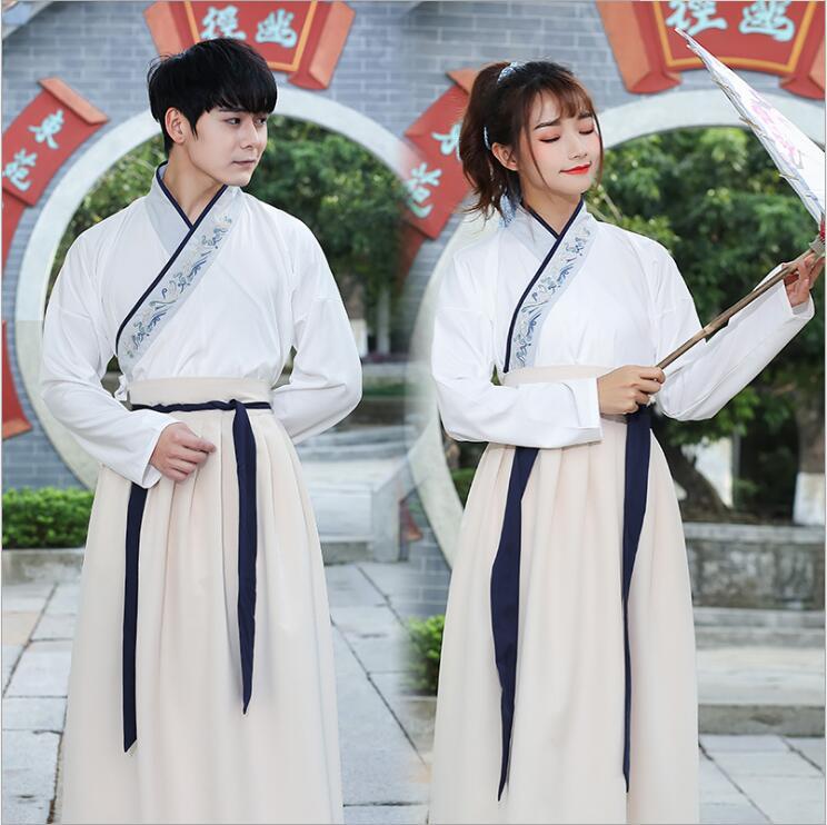 Unisexe Original Hanfu GuangDong brodé croix foulard épées homme femme style uniforme spécial costume Canton broderie - 4