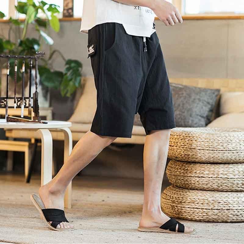 Casual Beach   Board     Shorts   New Fashion Cotton Thailand   Shorts   Bloomers Men Loose Linen Harem   Shorts   Nepal Wide Leg Big Size Be