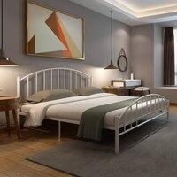 Современная Контрактная железная художественная кровать железная рама стальная рама кровать 1,2 м 1,5 м 1,8 м односпальная двуспальная кровать