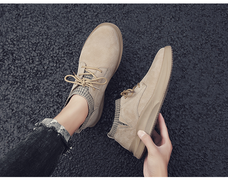 Casual Genuine Leather Suede Sneakers Unisex 8