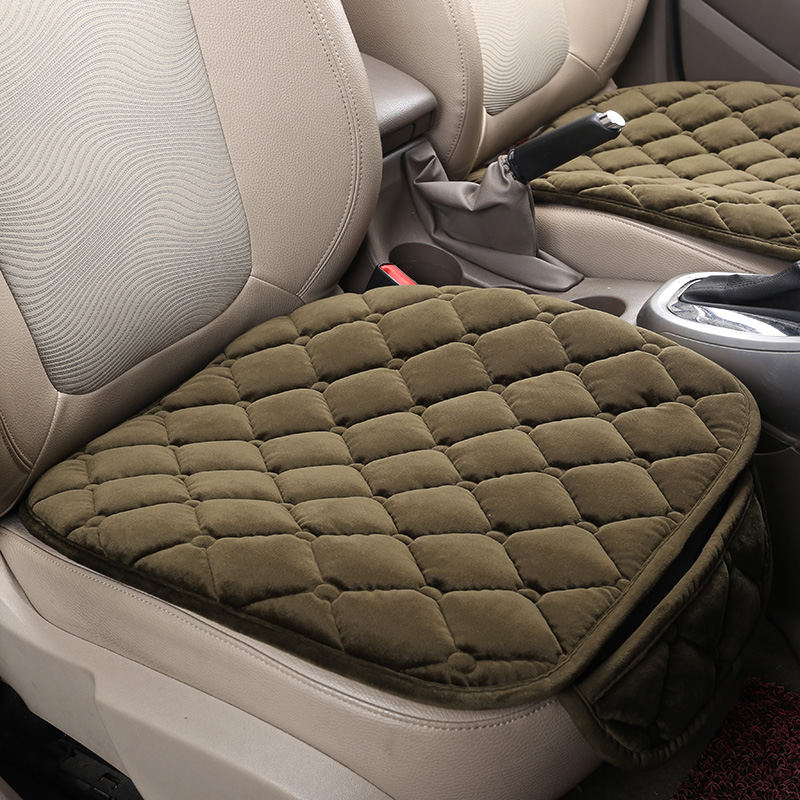 2018new3PCS/Set Universal Comfortable Square Soft Cotton Car Seat Cushion Front Back Seat Covers Auto Chair Pad Mat Car Supplies