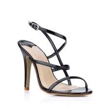 Mode Frauen Sandalen Dünne Straps Open Toe Stilett-hohen Absätze Gold/Silber/Schwarz Sommer Party Damen Schuhe Dünne stil