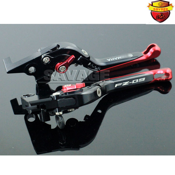 For YAMAHA FZ-09 MT-09 850 Triple 2014-2015 Red+Black Motorcycle Accessories Folding Extendable Brake Clutch Levers motorcycle accessories short brake clutch levers logo fz 09 red for yamaha fz 09 mt 09 mt09 fz09 2014 2016