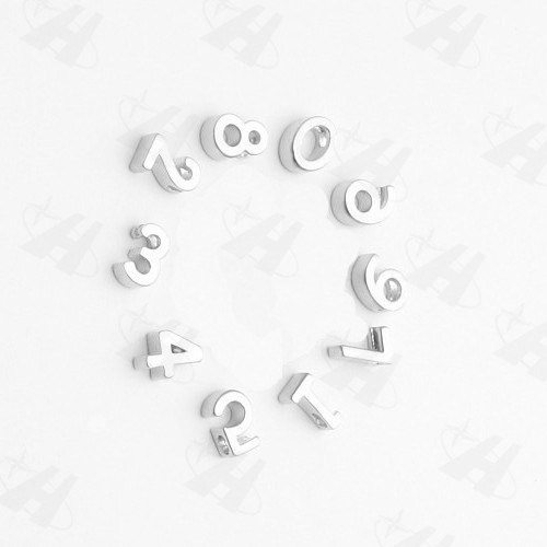 864b6629d7cea 10pcs 9mm 0-9 Tiny silver,gold or rose gold plate number Charm for DIY  Necklace Bracelet Zipper pulls Initial Charm Pendant
