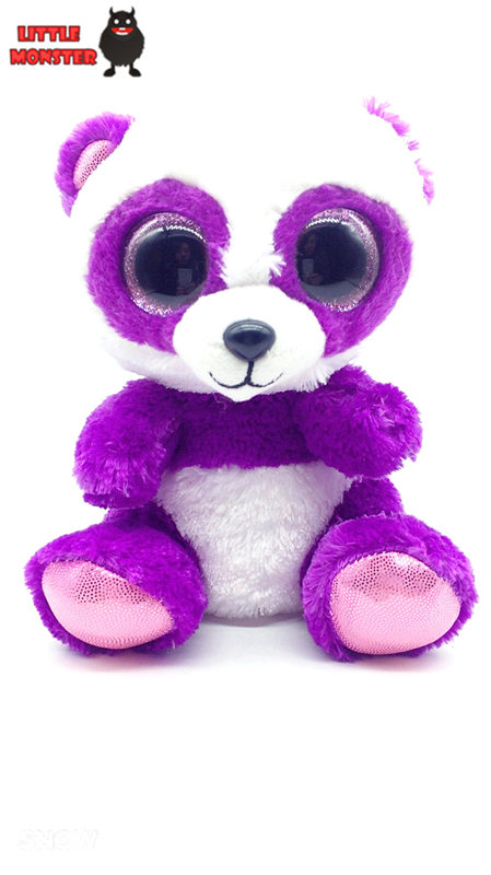 664749b57f8 Ty Beanie Boos Original Big Eyes Plush Toy Doll 10 - 15cm Purple Bear TY  Baby For Kids Brithday Gifts
