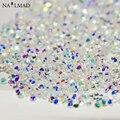 500 unids 1.2mm Dazzling Zircon Rhinestones Micro Cristal Piedras Mini Cónica Del Clavo Del Rhinestone Decoraciones Del Arte Del Clavo Herramientas de BRICOLAJE