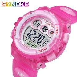 PANARS – montre de nuit optoélectronique pour enfants, montre pour garçons et filles, étanche, bracelet en Silicone, batterie importée du japon, cadeau