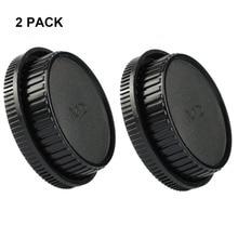 مجموعة LXH (2 PACK) غطاء جسم السيارة الأمامي وكاب العدسة الخلفية لمجموعة العدسات والكاميرات Minolta MD MC ، يناسب Minolta X-700 ، X570 ، X-370