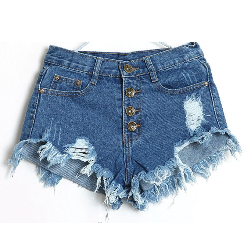 2 Colors Hot Sale European Style Women   Shorts   Causal Sexy Jean Denim   Short   Women's Casual Summer   Shorts   2017