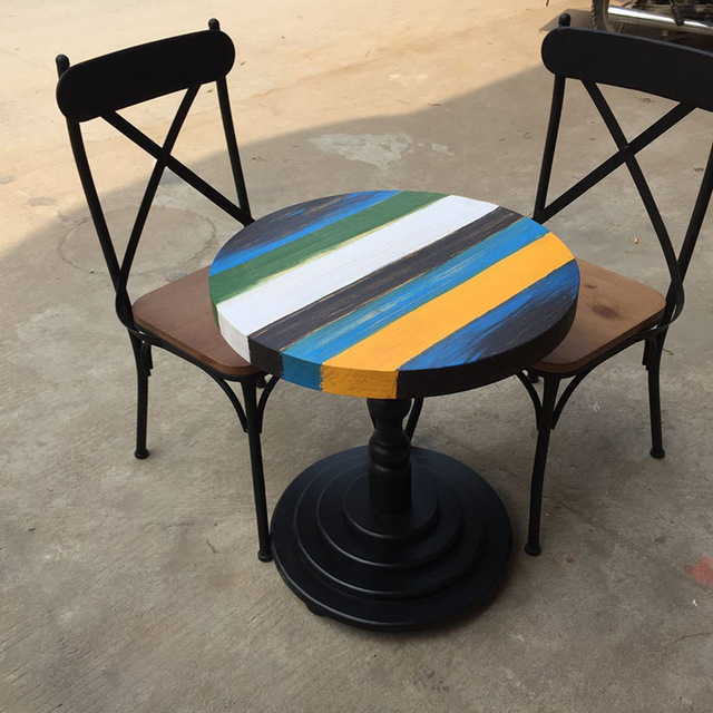 However Gifted American Home Color Creative Wrought Iron Cafe Tables Round  Table Outdoor Leisure To Do