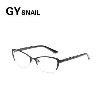 4198a6f879 GY Caracol hombres gafas de lectura para la vista de los hombres  hipermétropes gafas Brillen hombre espectáculo marcos con dioptrías + 1 + 1  + 1,5 + 2 + 2,5 ...