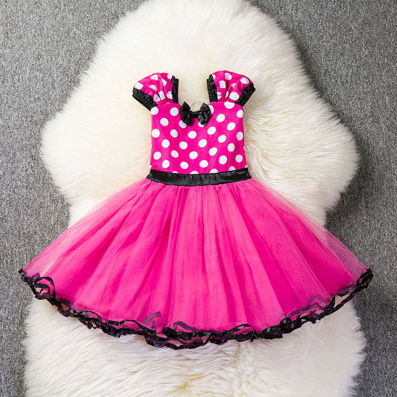 Cute Toddler Baby Girls Mouse Cosplay Dress Party Wear Halloween Costume Tutu Kids Dresses For Girls Clothes Children Clothing