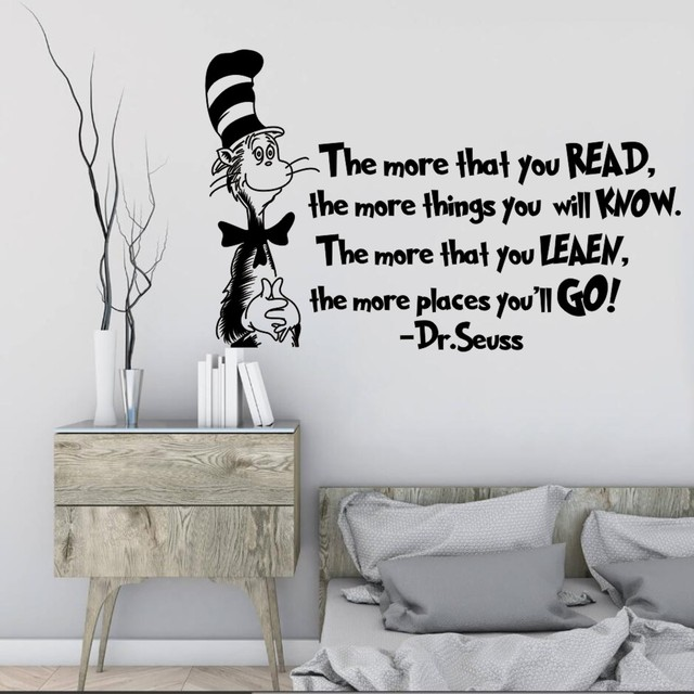 YOYOYU Wall Sticker The More That You Read Wall Decoration Cat In ...