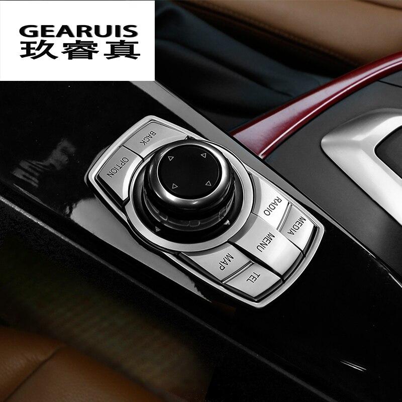 Car styling Intérieur Multimédia Boutons Couverture Décoration Phare interrupteur Cadre garniture Autocollants Accessoires pour BMW X3 F25 X4 F26