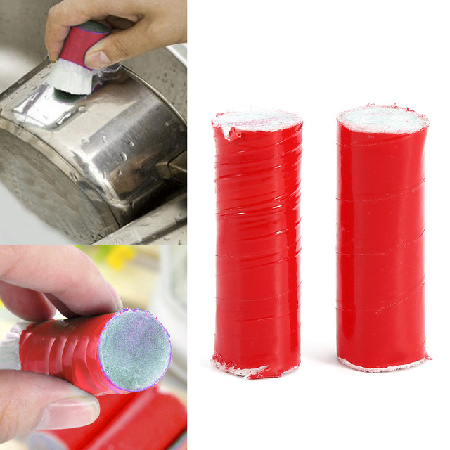 2PCS Stainless Steel Rod Magic Stick Rust Remover Cleaning Wash Brush Wipe Pot Dropshipping Wholesale