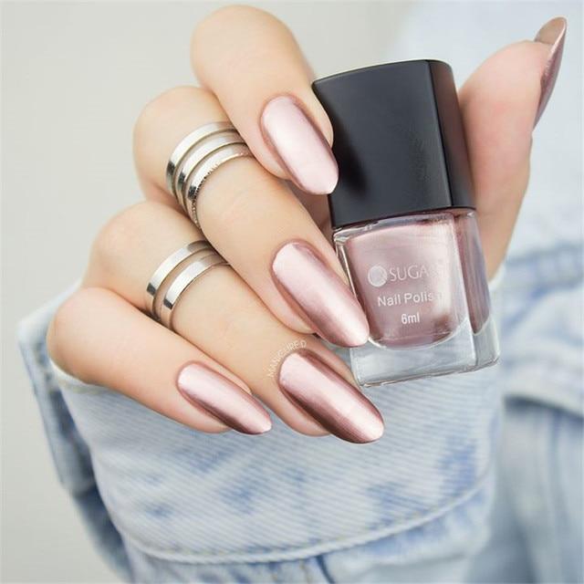 UR SUGAR Colorful Pink Silver Gold Mirror Metallic Nail Polish ...