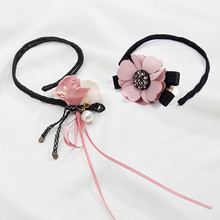 CHIMERA 2Pcs Flower Hair Bun Maker Pearl Crystal Magic Pin Headwear Donut Fashion Rhinestone Accessories Hairband