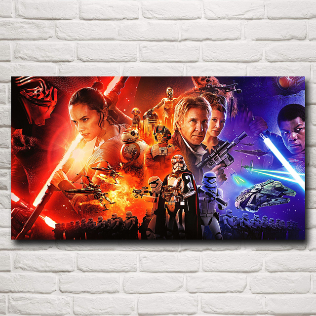 Star Wars: The Force Awakens Movie Art Silk Print Poster Home Decoration Pictures 11×20 16×29 20×36 Inches Free Shipping