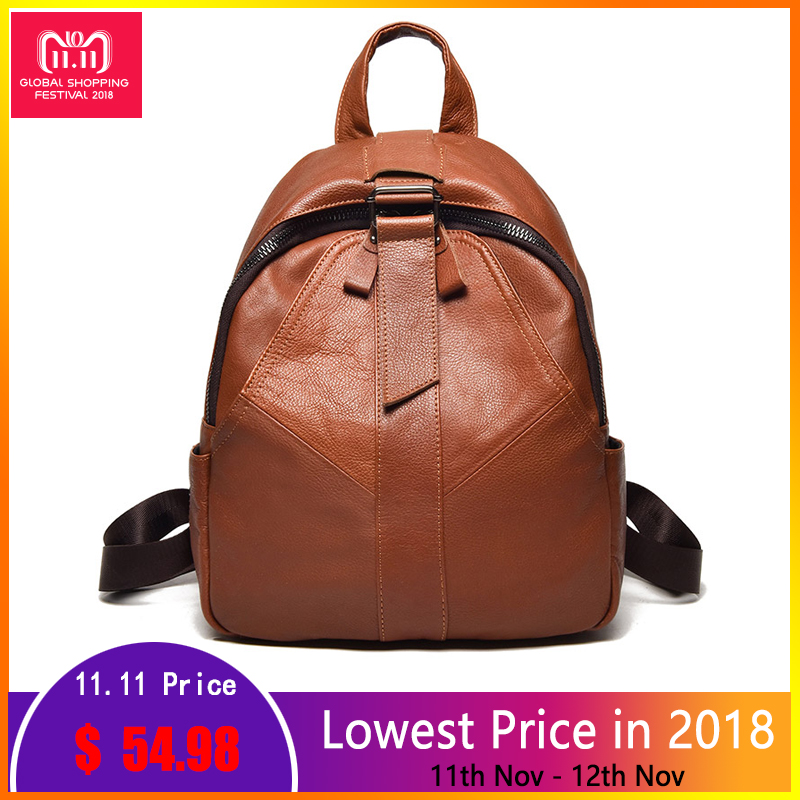 New Arrival Women Backpacks Genuine Leather Ladies Travel Bags Preppy Style Schoolbags For Girls High Quality Shoulder Bags ciker new preppy style 4pcs set women printing canvas backpacks high quality school bags mochila rucksack fashion travel bags