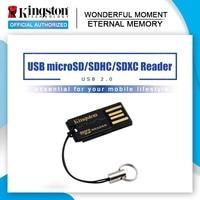 USB 2,0 de Kingston Lector de Tarjetas Micro SD FCR-MRG2 microSD, microSDHC microSDXC Flash Adaptador de Tarjeta de Memoria