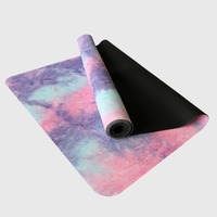 183cm*68cm*1mm Natural Rubber Absorb Sweat Comfortable Ultrathin Deerskin Suede Non Slip Exercise Yoga Mat Pilates Fitness Pads