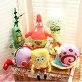 6 unids/set SpongeBob Patrick Peluches Niños de Personajes de la Película de Dibujos Animados de Navidad Regalo de Cumpleaños Juguetes de Peluche y Felpa Animales