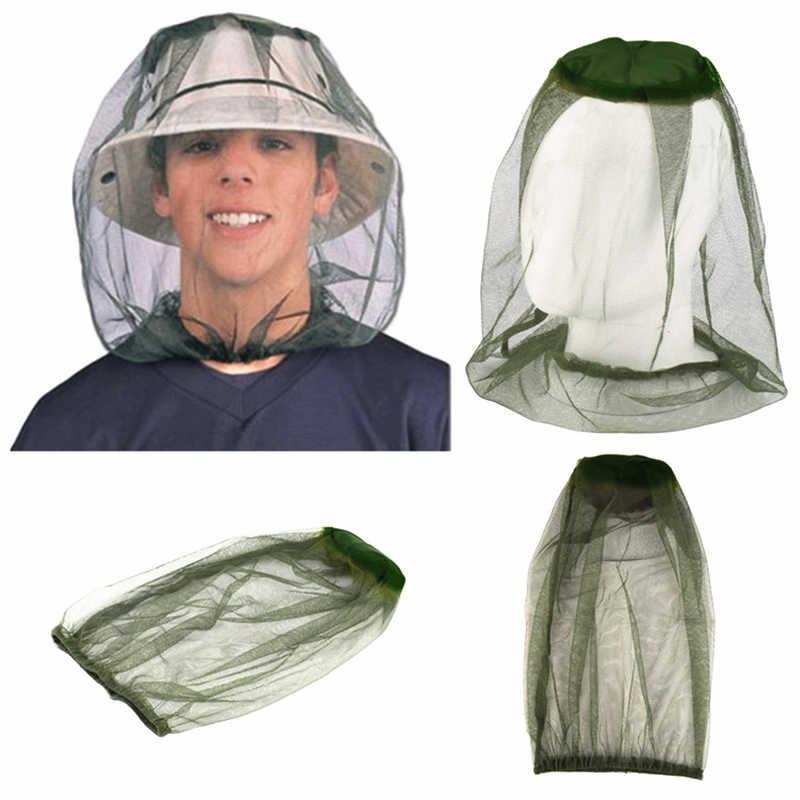 หมวกตกปลากลางแจ้ง Midge แมลงยุงหมวกตกปลาหมวก Bug ตาข่ายตาข่าย Face Protector Camping หมวกหมวก