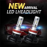 100x X3 фар автомобиля лампы 50 Вт 6000 К H4 светодио дный H7 светодио дный автомобиля лампы Автомобили 6000lm 12 В зэс чип H1 H11 9005 HB3 9006 HB4 светодио дный пр
