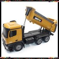 Huina 1573 RC грузовик 1/14 самосвал 10 каналов Новый инженерный Автомобиль 2,4 ГГц Дистанционное управление автомобиль 1:14 RC игрушки для детей Подарк