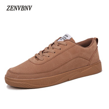 Фотография ZENVBNV 2017 New British Style Men Casual Shoes Pu Leather Luxury Shoes Men Fashion Brand Designer Lace Up Platform Men Footwear