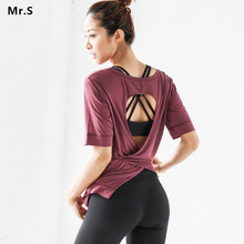 Soft Women Tie Back Sports Yoga Shirts Backless Wrapped Top Shirt Red Workout Shirts Gym Fitness Tops Athletic Clothes 6 colors цена 2017