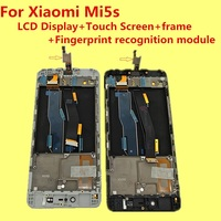 With Fingerprint Recognition Function For Xiaomi Mi5s MI 5S LCD Display Touch Screen Frame Assembly Replace