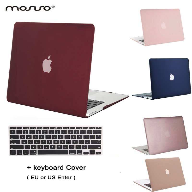 все цены на MOSISO for Apple Macbook Air 13 Plastic Hard Case Cover for Macbook Air 11 Matte Crystal Laptop Shell Cover Shell+Keyboard Cover онлайн