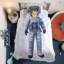 Girls Boys Adults Duvet Cover Set Astronaut Ballet Pattern Bed linens Twin Queen Size Single Double Home Decor Bedding Sets