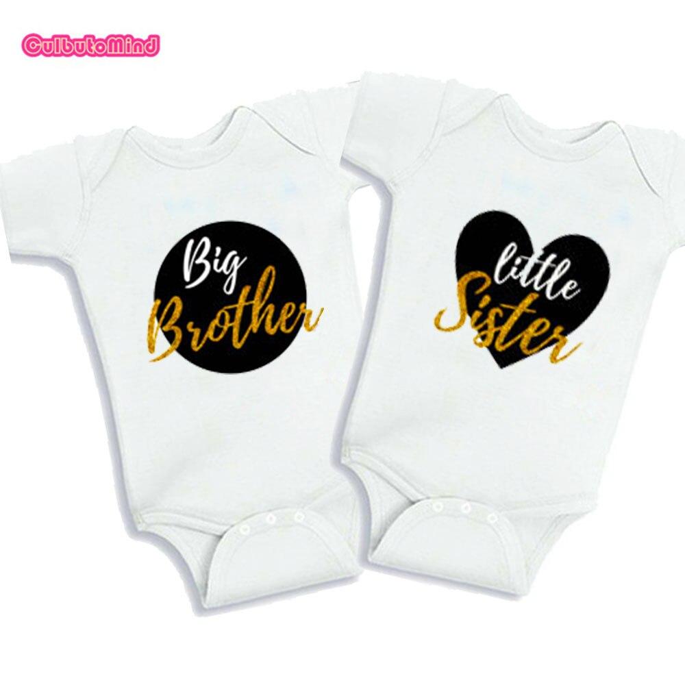 Culbutomind Big Brother Little Sister Body de bebé Gemelas Recién - Ropa de bebé