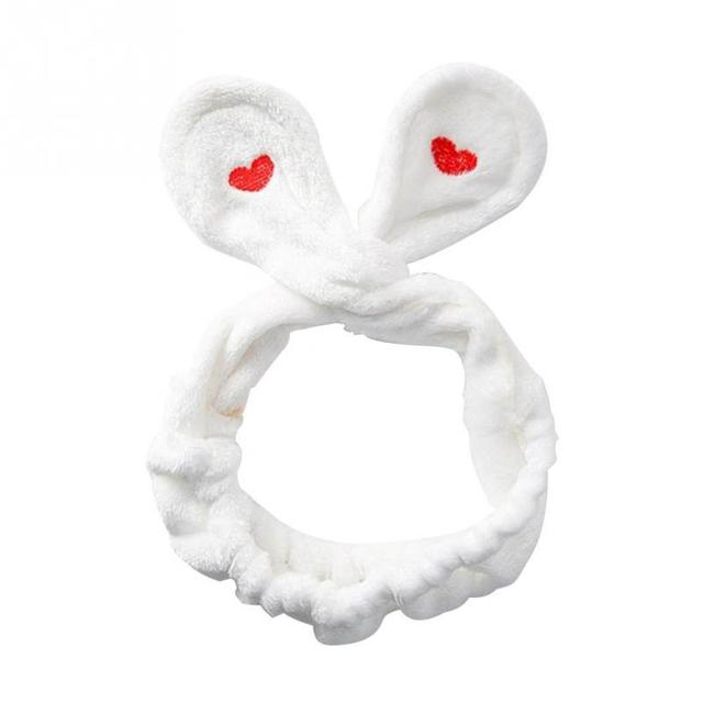 0844166b1a0 Headwear Big Rabbit Ear Soft Towel Hair Band Wrap Headband For Bath Spa  Make Up Women