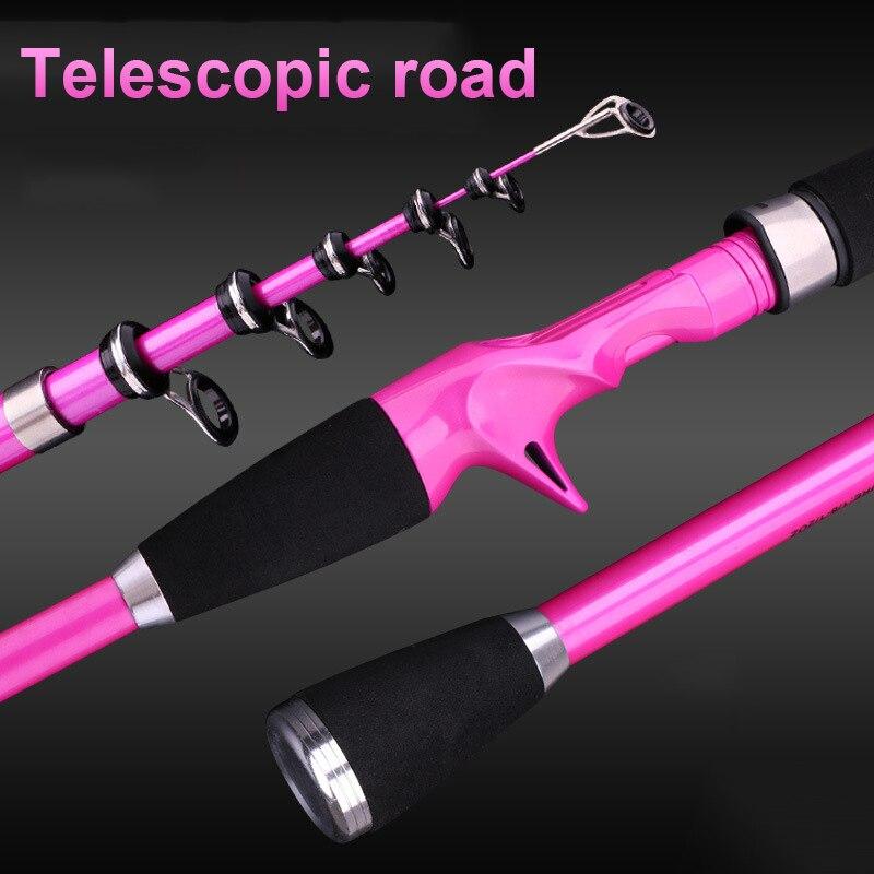 Image 4 - Carbon Fiber Telescopic Fishing Rod 1.8 2.4M Portable  Fishing Ultra short  Rod Hand Tackle Sea Ocean Lightweight Fishing Rods-in Fishing Rods from Sports & Entertainment