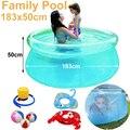 Видеть сквозь прозрачный диаметр 180 см прозрачный синий над землей бассейн семейный надувной игровой бассейн для взрослых easy set prompt