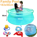 see through clear diameter 180cm transparent blue above ground pool family inflatable play swimming pool adult easy set prompt