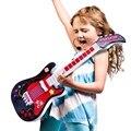 Venta caliente Niños Juguete Musical Música de la Guitarra Electrónica con Micrófono Instrumento de Simulación de Juguetes Educativos de Regalo